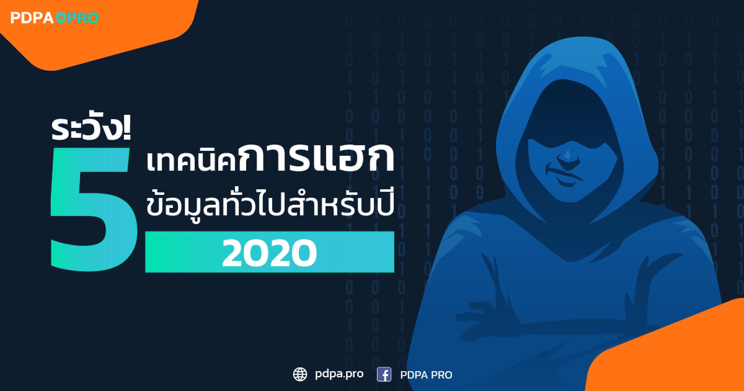 พึงระวัง! 5 เทคนิคการแฮกข้อมูลทั่วไปสำหรับปี 2020