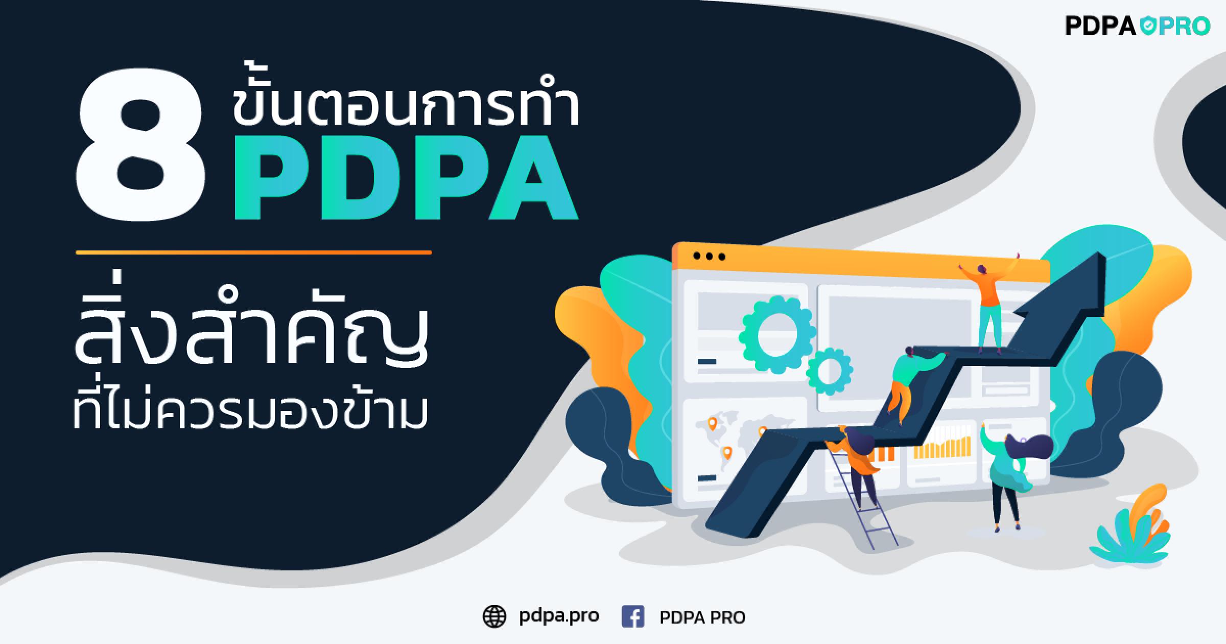 8 ขั้นตอนการทำ PDPA สิ่งสำคัญที่ไม่ควรมองข้าม